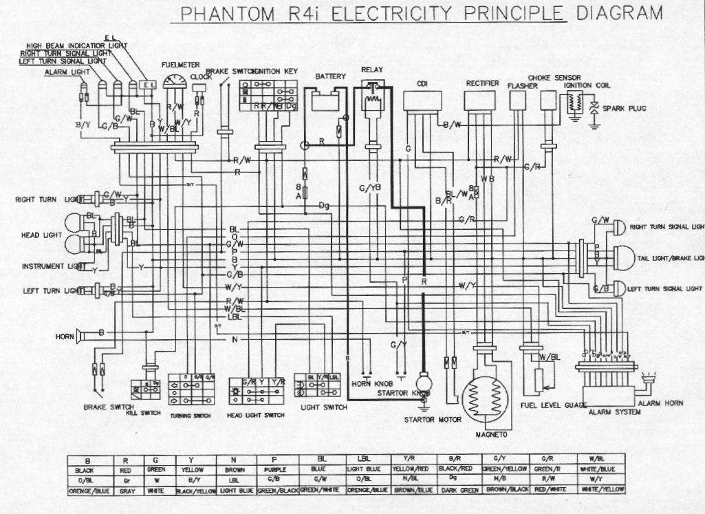 Схема электрическая для скутера Vento Triton