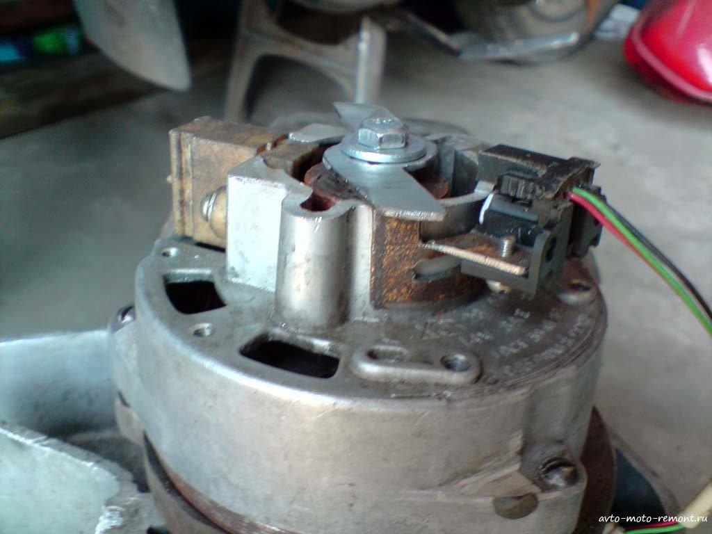 Замена 6 вольтового генератора Явы на 12 вольтовый от ИЖа