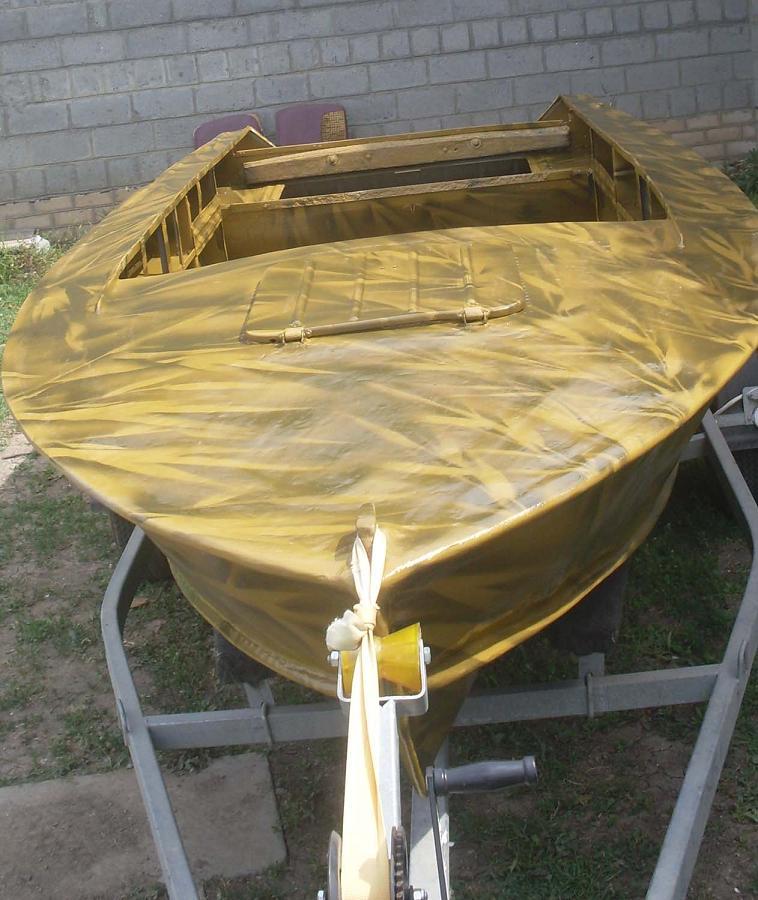 Самодельная стеклопластиковая рабочая лодка