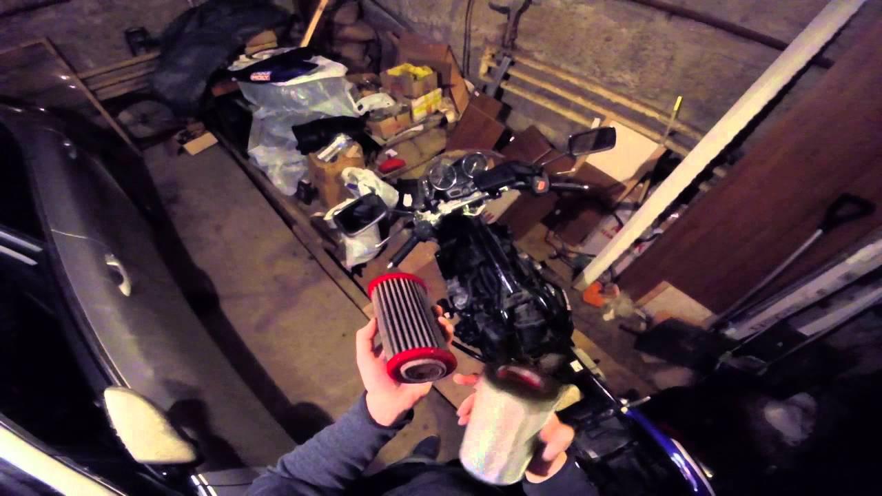Как заменить воздушный фильтр на Honda CB 400 SF