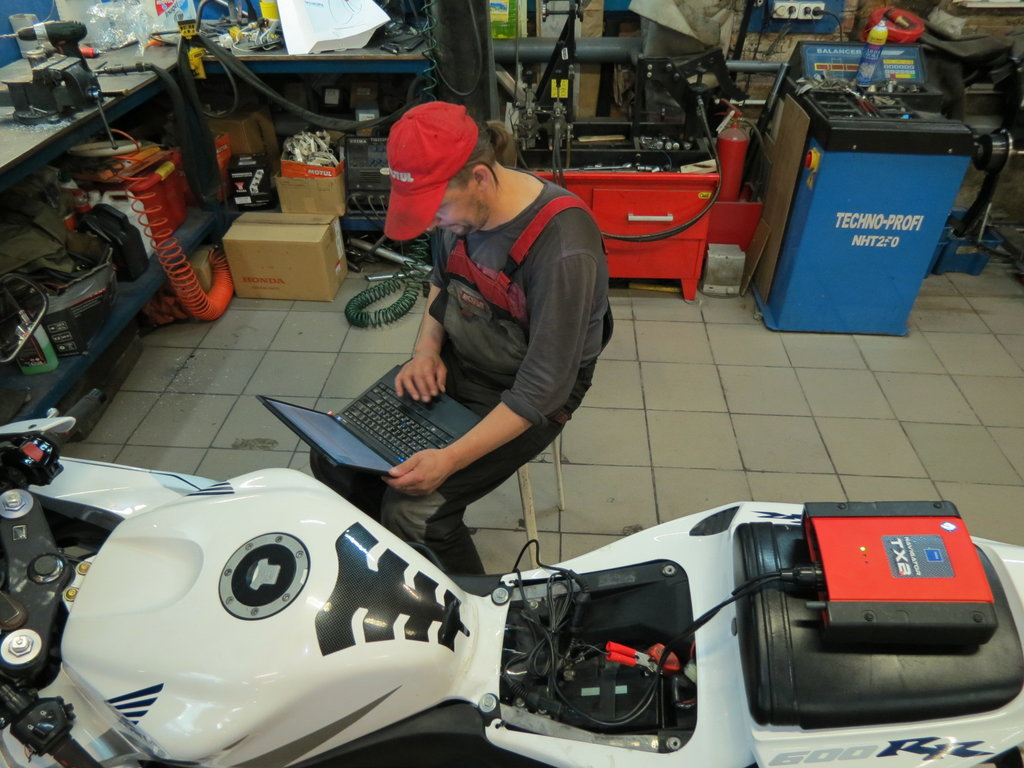 Первое техобслуживание (ТО) не нового (БУ) мотоцикла.