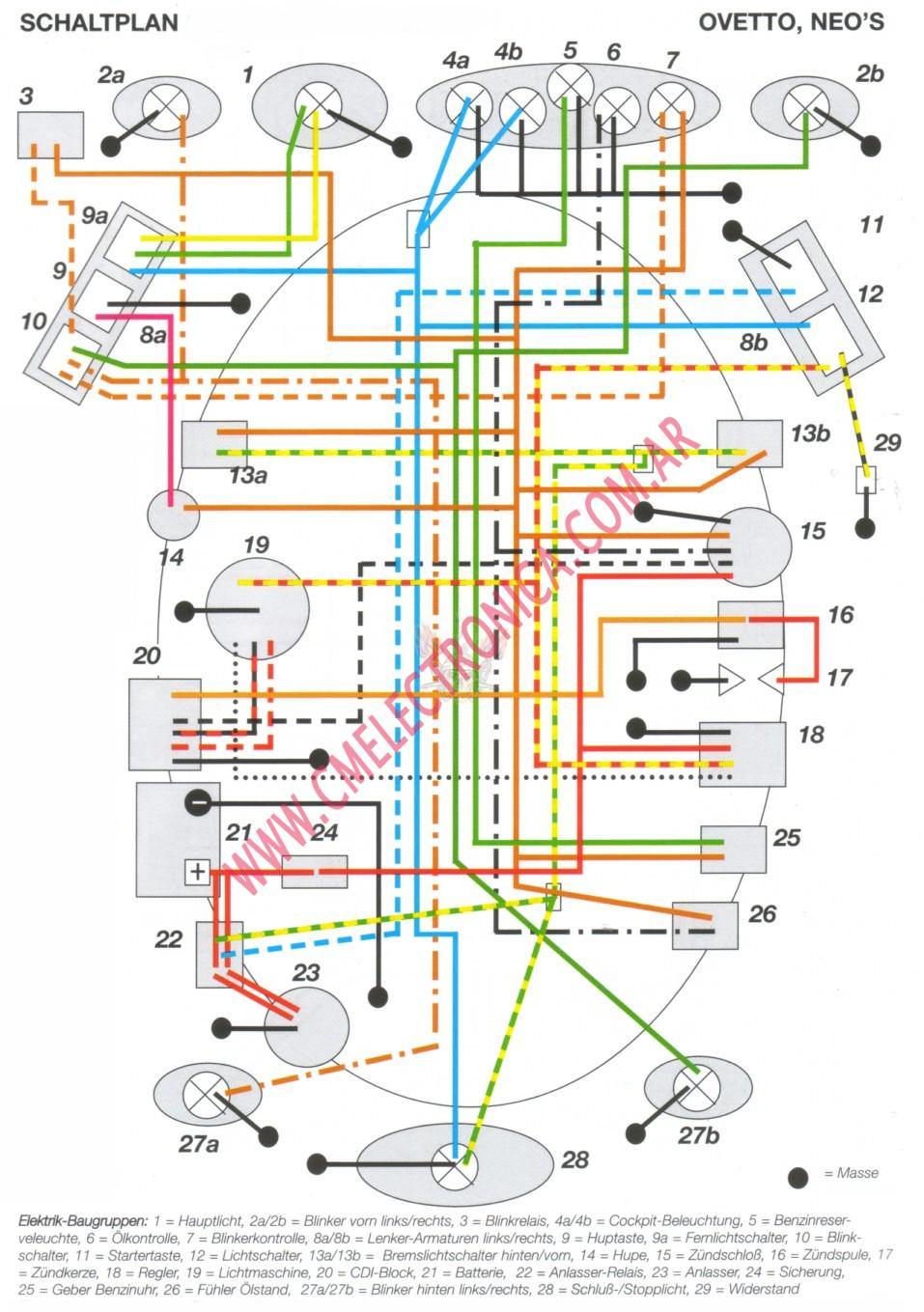 Ремонт электрооборудования скутера Yamaha Neos