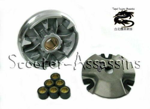 Стандартные размеры и вес роликов вариатора скутеров MBK