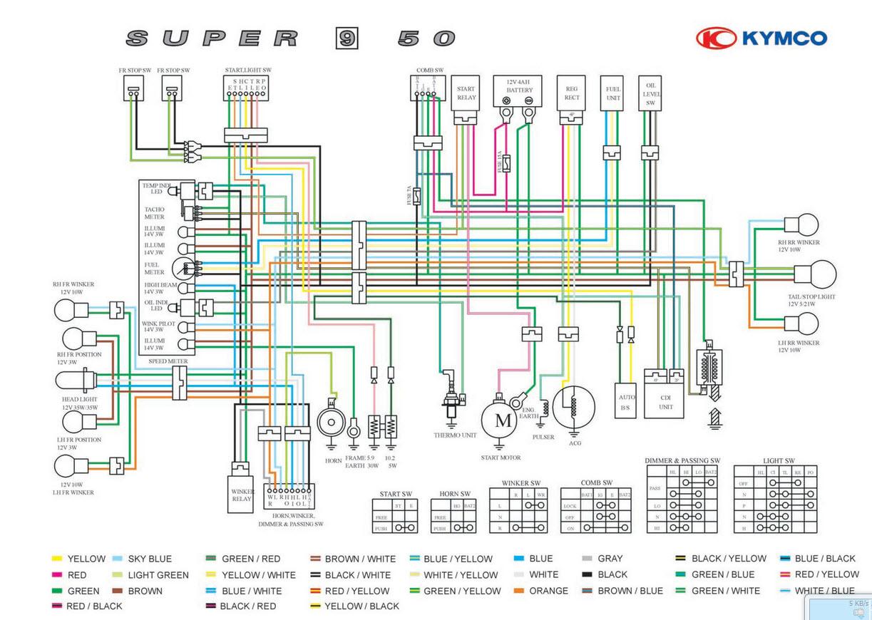 Схема электрооборудования Honda Tact16