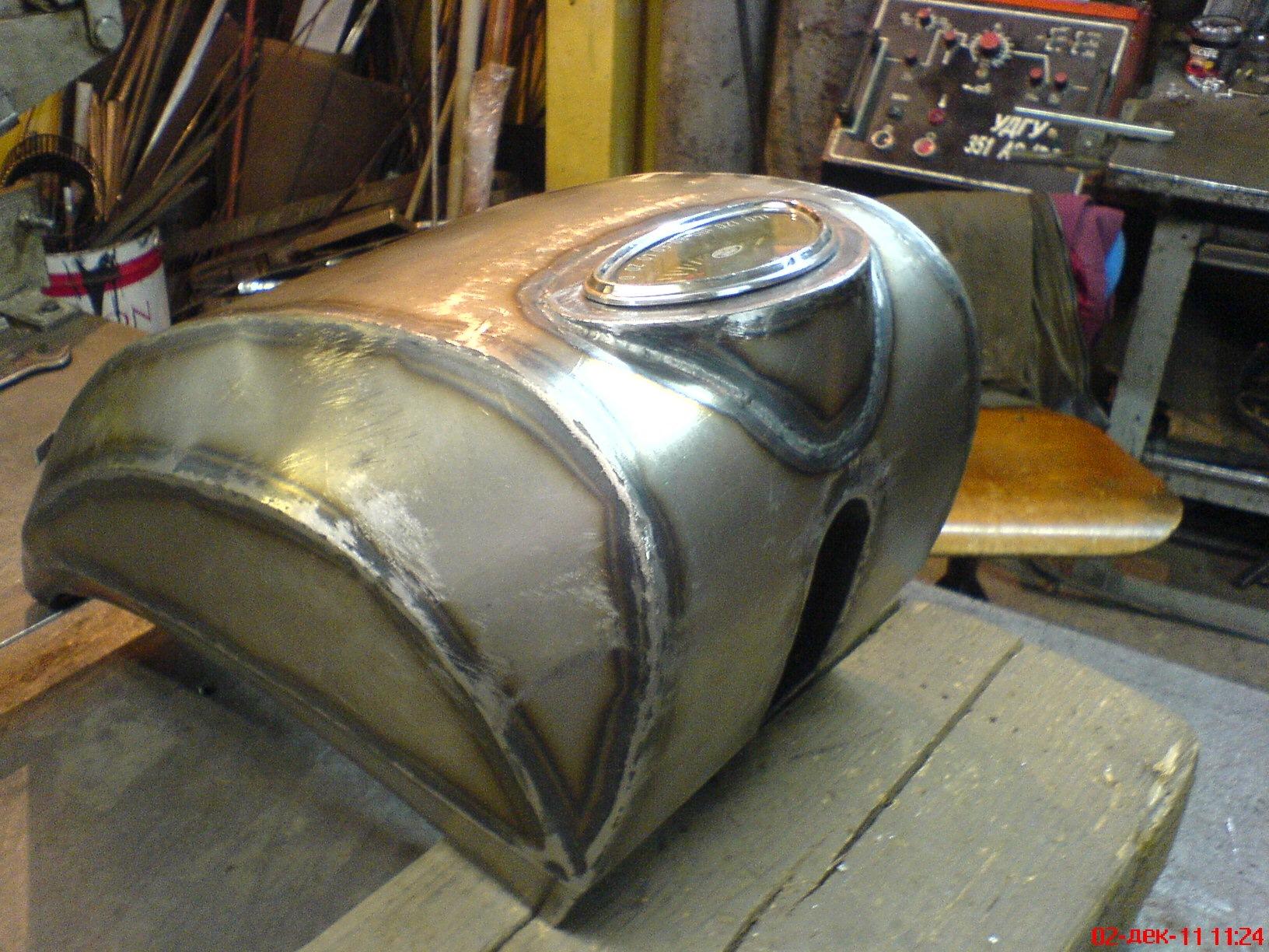 Изготовление бензобака более сложной формы, для чоппера