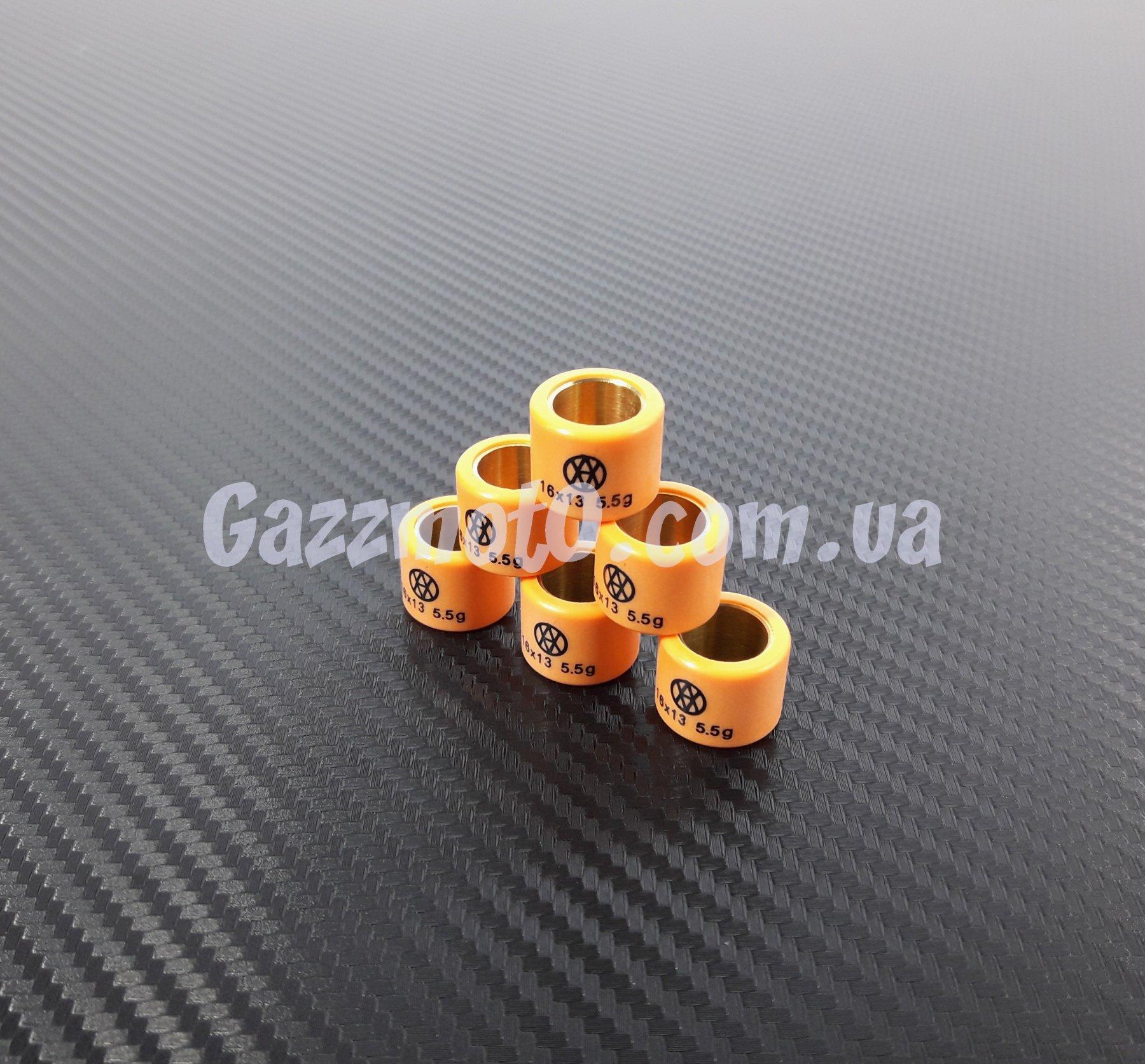 Стандартные размеры и вес роликов вариатора для скутеров Suzuki
