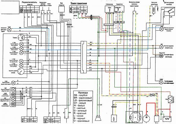 Инструкция-схема по ремонту электропроводки скутера Daelim CitiAce 110