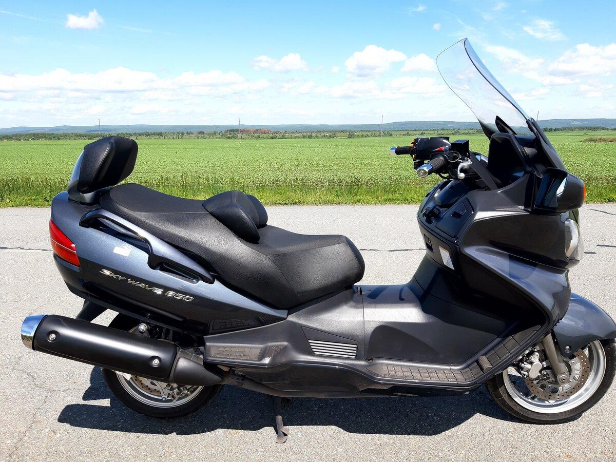 Обзор стильного макси скутера Сузуки Бургман (Suzuki Skywave) 650