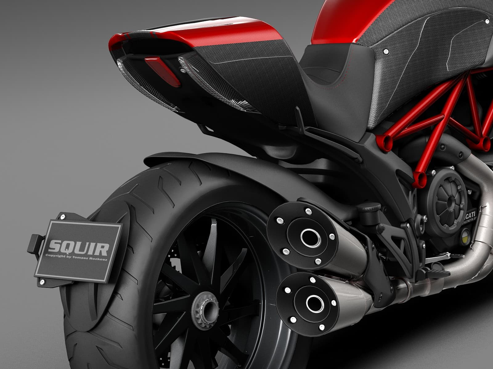 Новый мотоцикл Ducati XDiavel покрыли алмазоподобным углеродным слоем