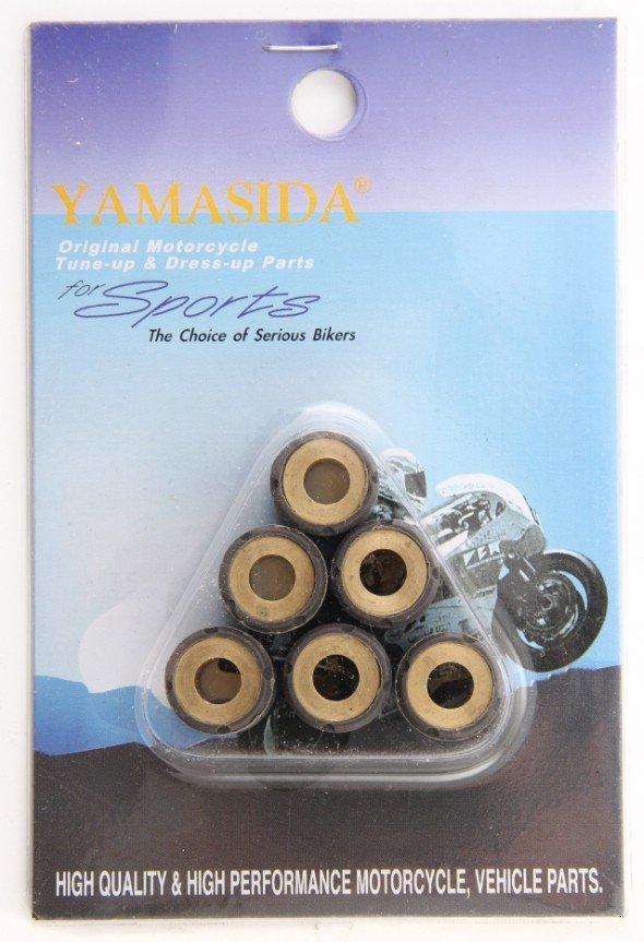 Размер и вес роликов вариатора для всех скутеров Yamaha