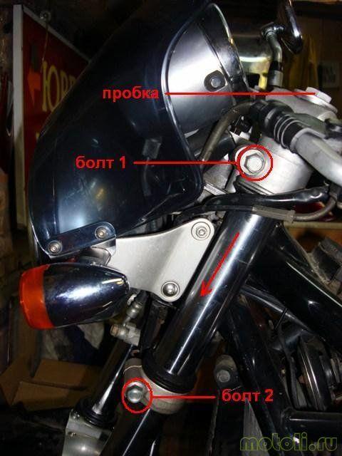 Замена масла, сальников и пыльников вилки на мотоцикле Suzuki GSF 400 bandit