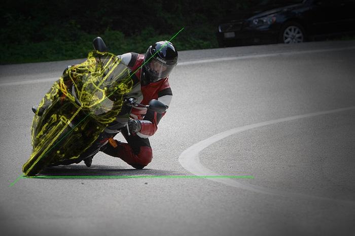 Учимся входить в поворот на мотоцикле