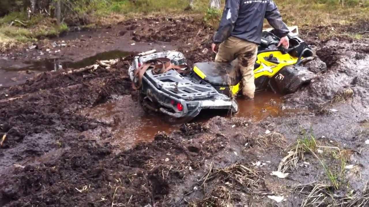 Визг из вариатора квадроцикла при застревании в грязи