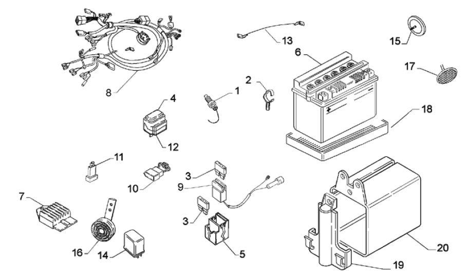 Aprilia Scarabeo 500 ABS- схема для ремонта и обслуживания