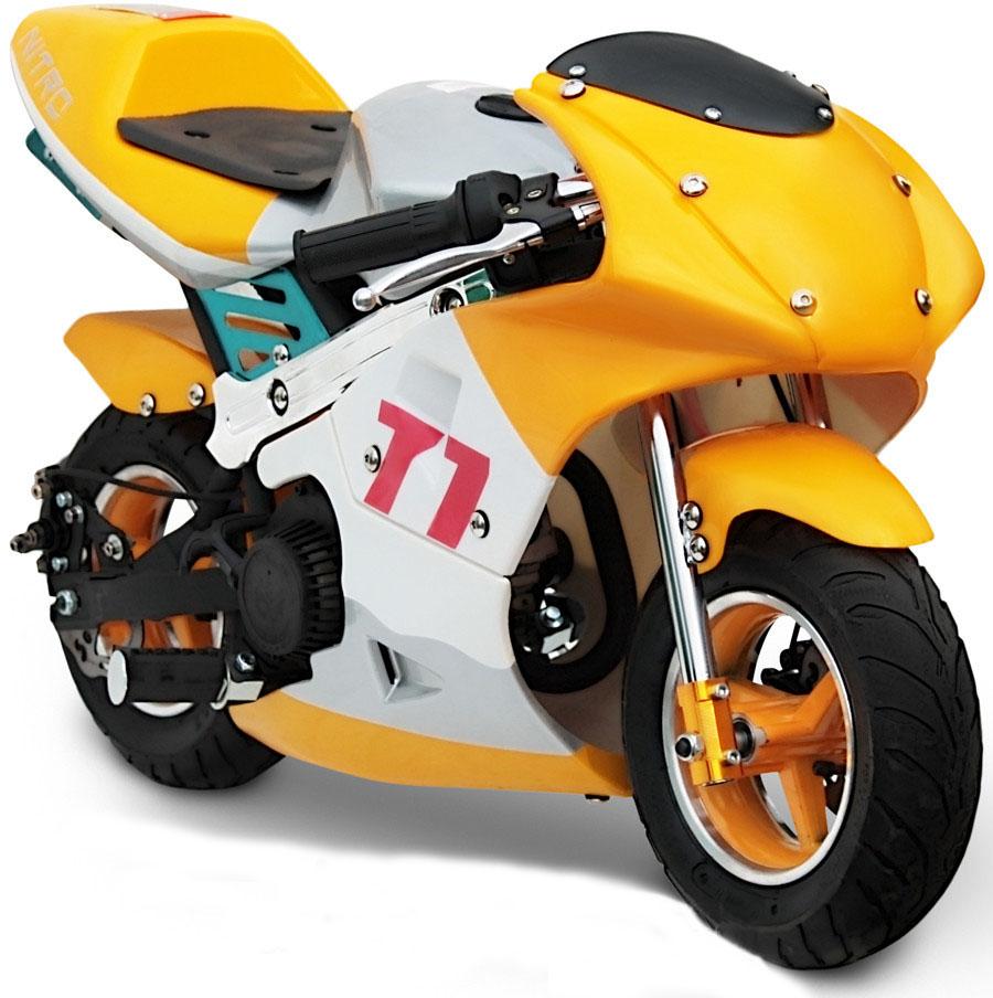 Детские мотоциклы на бензине: обзор популярных моделей