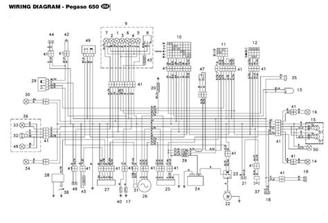 Схема электропроводки скутера Aprilia SR 50 модификации AC-LC