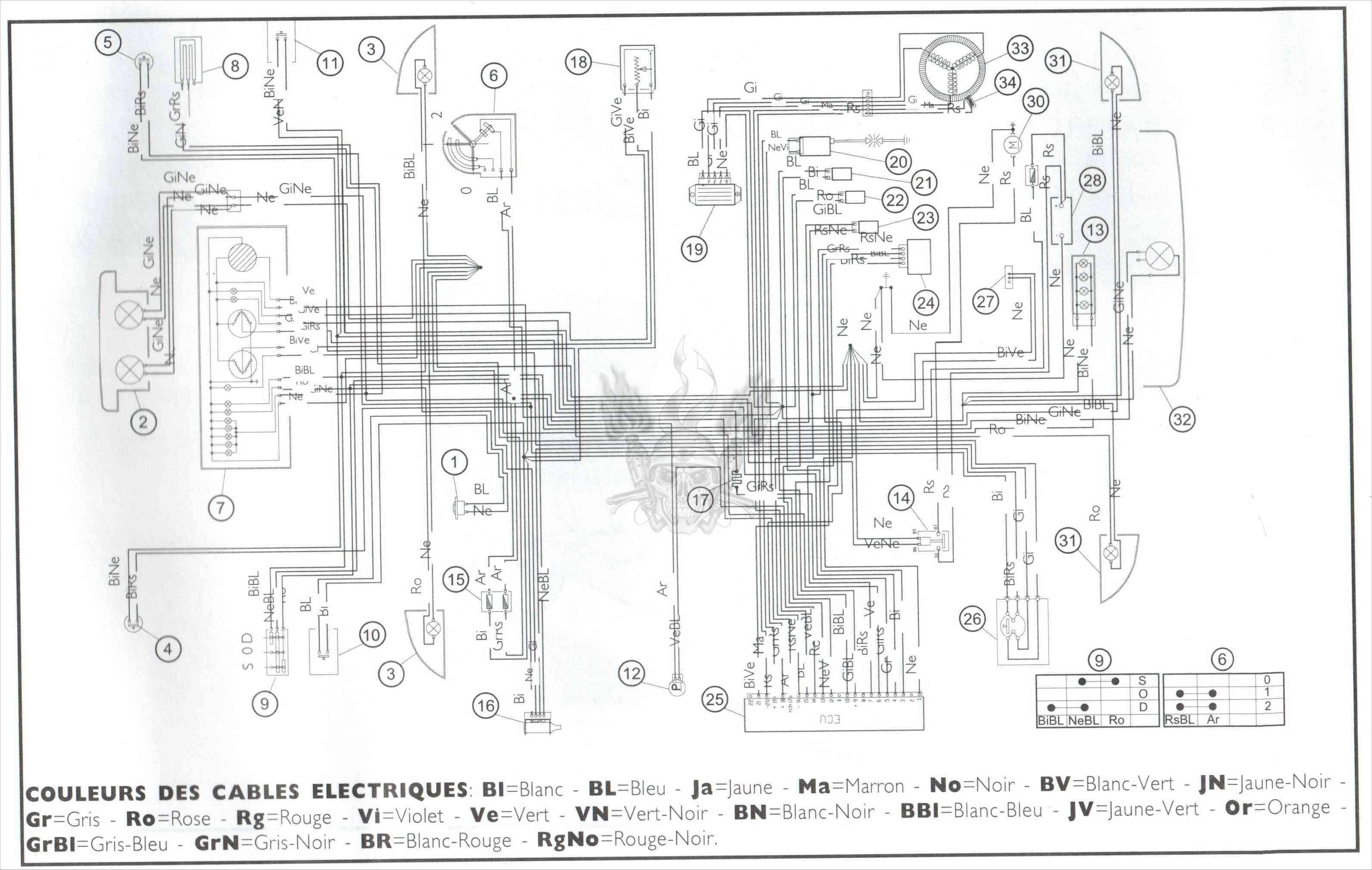 Схема электрооборудования скутера Vento Zip
