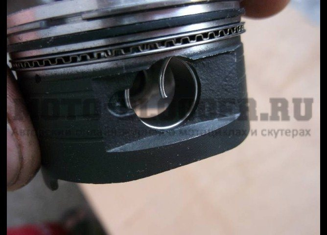Как правильно установить кольца на поршень двухтактного скутера