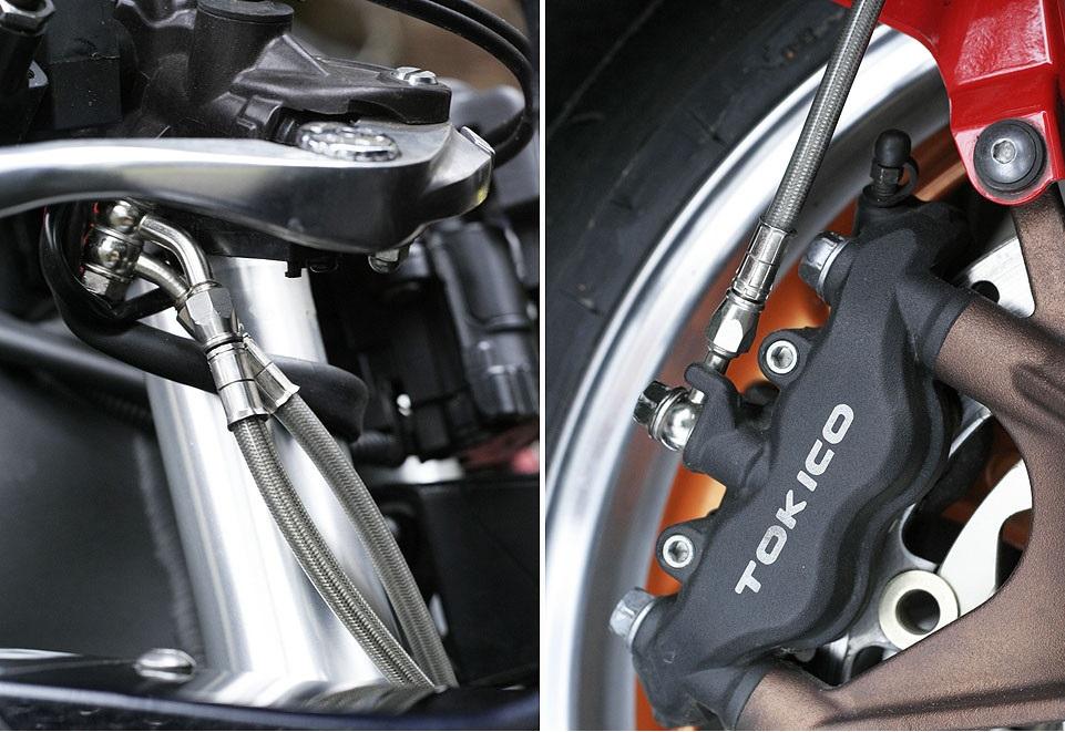 Армированные тормозные шланги для мотоциклов