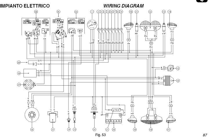 Электросхема скутера Peugeot Speedfight с системой ACI100