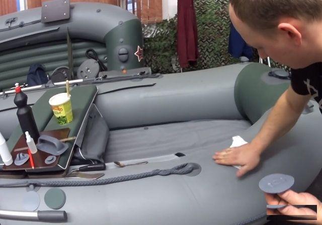 Как найти место прокола в лодке ПВХ и где купить заплатки для них