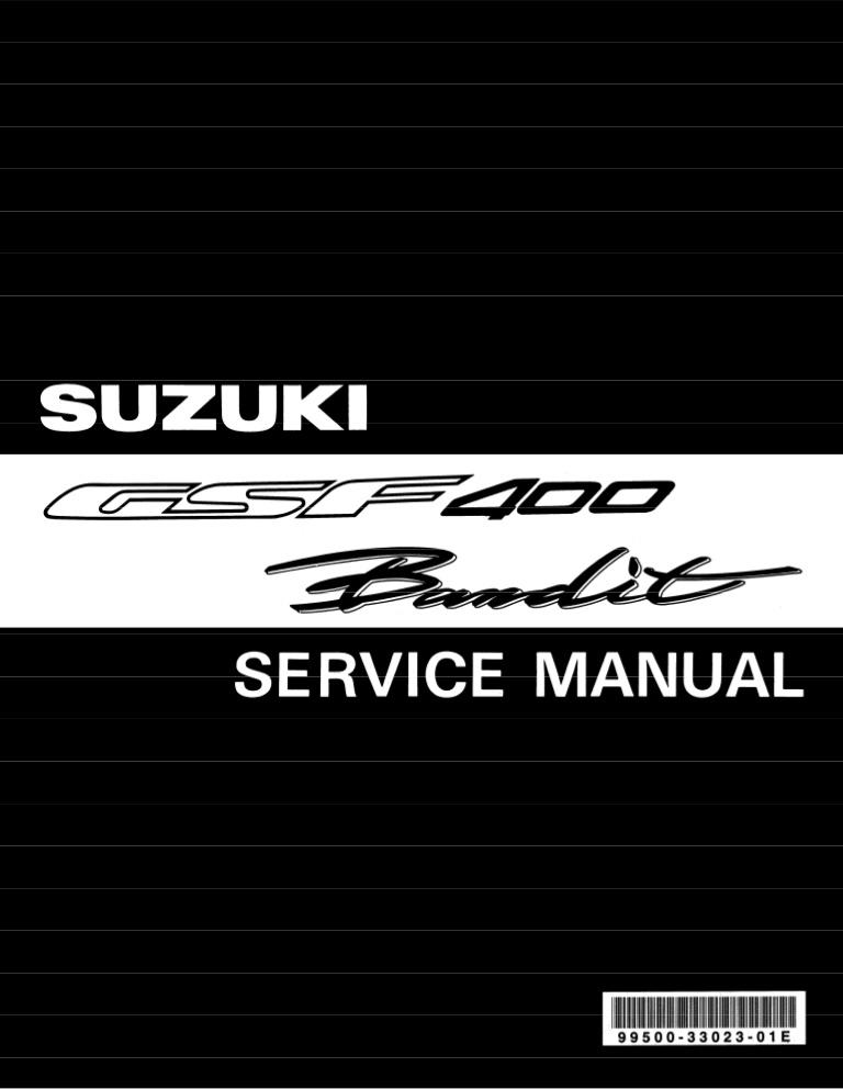 Мануалы и документация для Suzuki GSF 400 Bandit