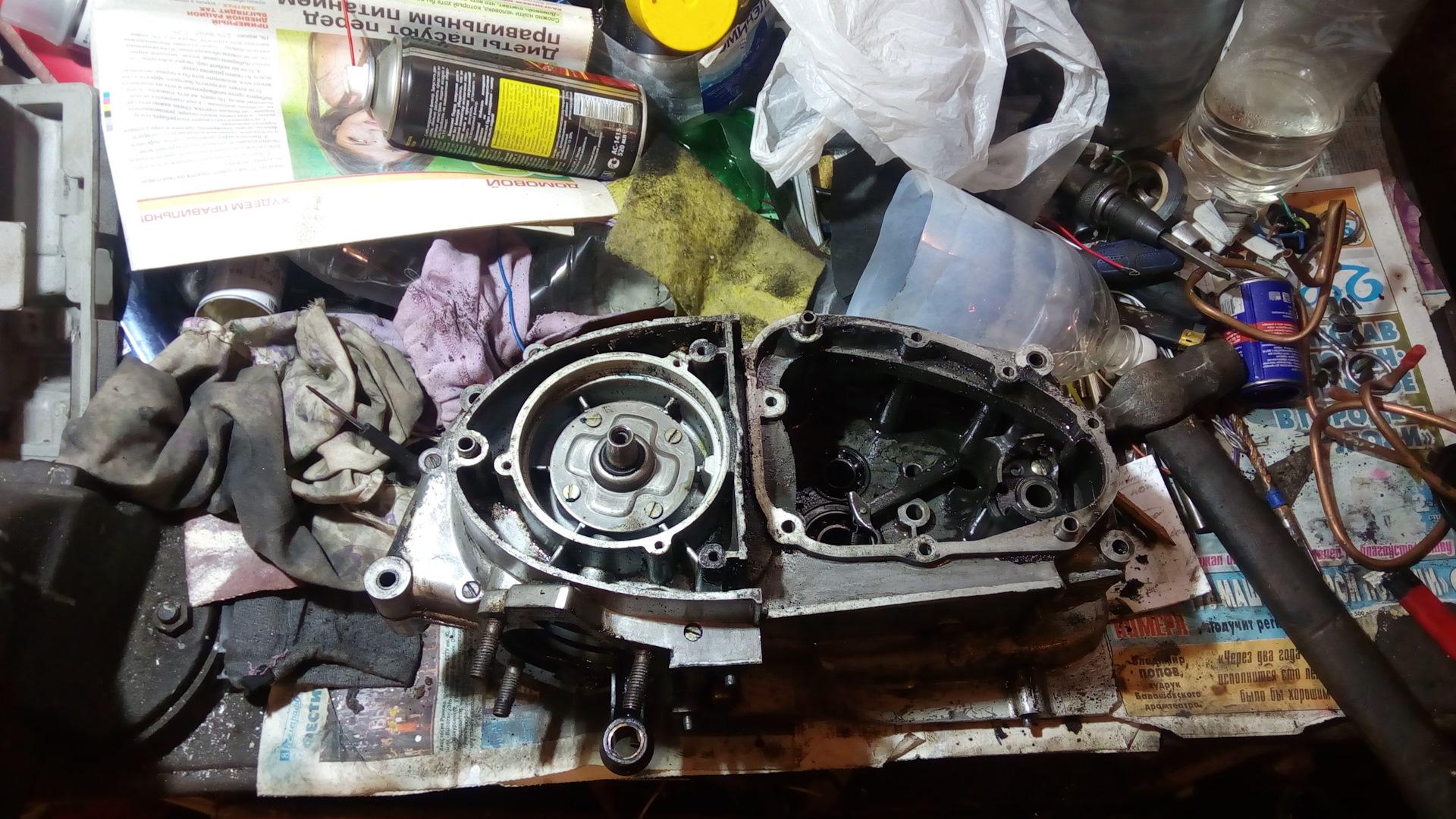Сборка и разборка двигателя ИЖ Планета 5