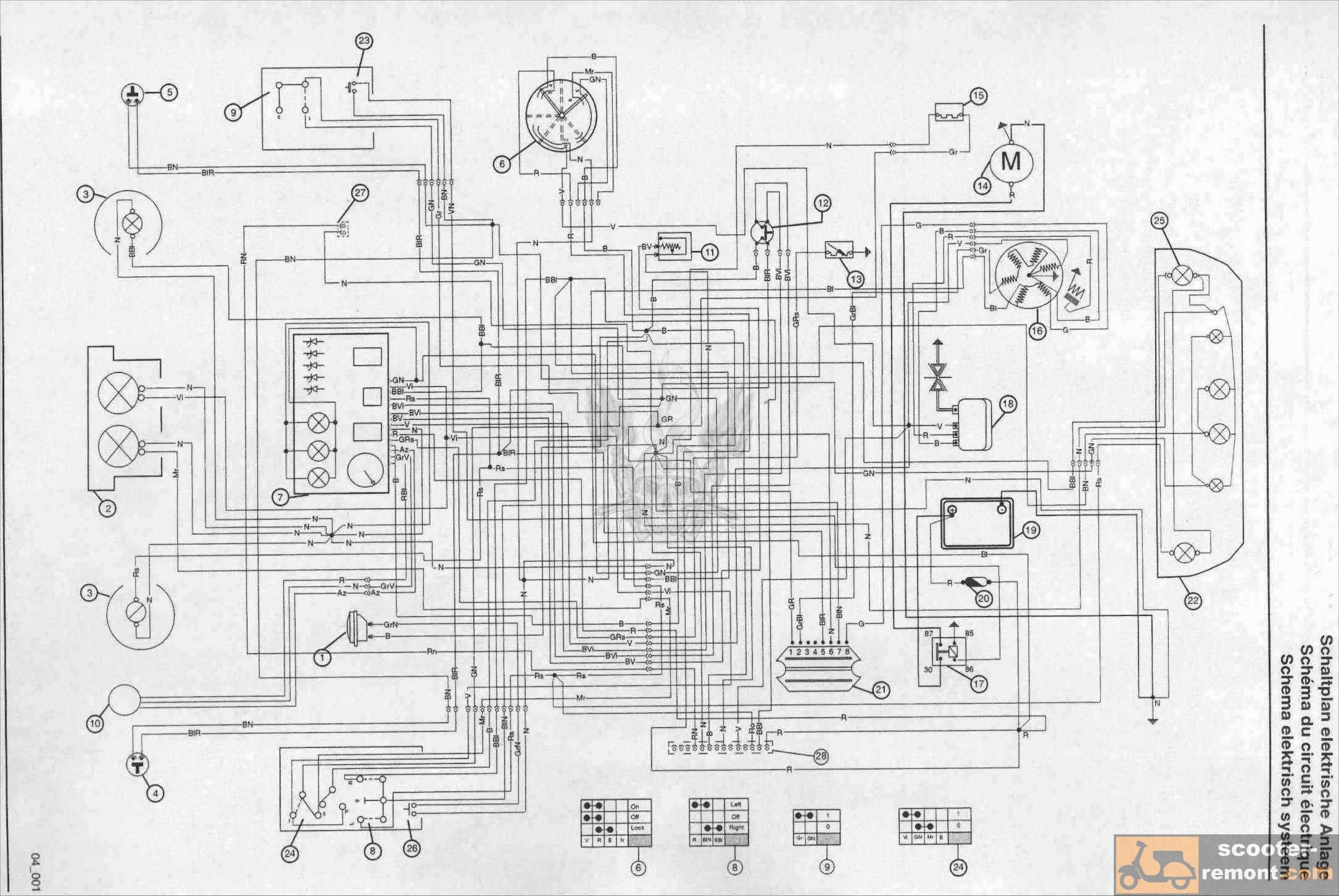 Схема проводки скутера Gilera Runner Purejet 50