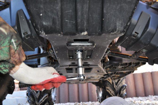 Какое масло лить в двигатель квадроцикла cf moto 500