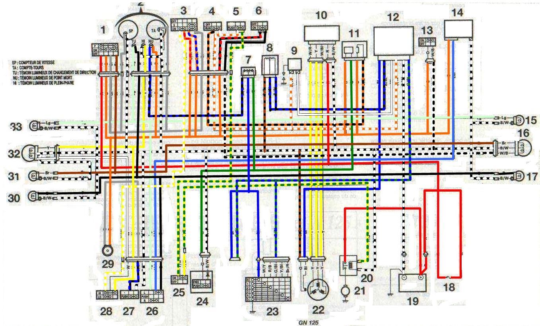 Схема электрооборудования скутера Daelim NS 125