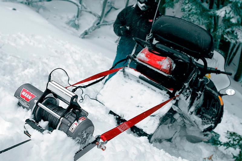 Обзор лебедки для снегохода