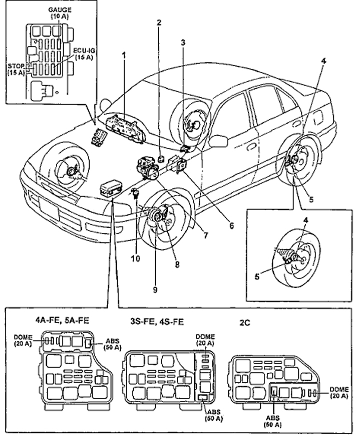 Диагностика и ремонт АВС — антиблокировочной системы тормозов иномарки
