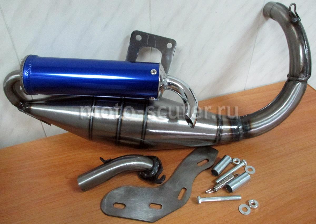 Глушитель саксофон на скутере – принцип работы и технические особенности