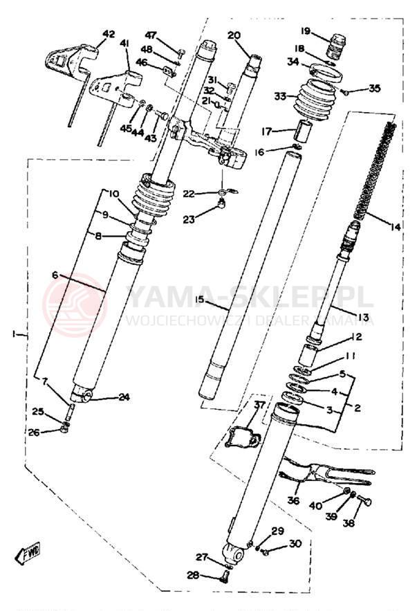 Передняя вилка скутера – разновидности и конструктивные особенности