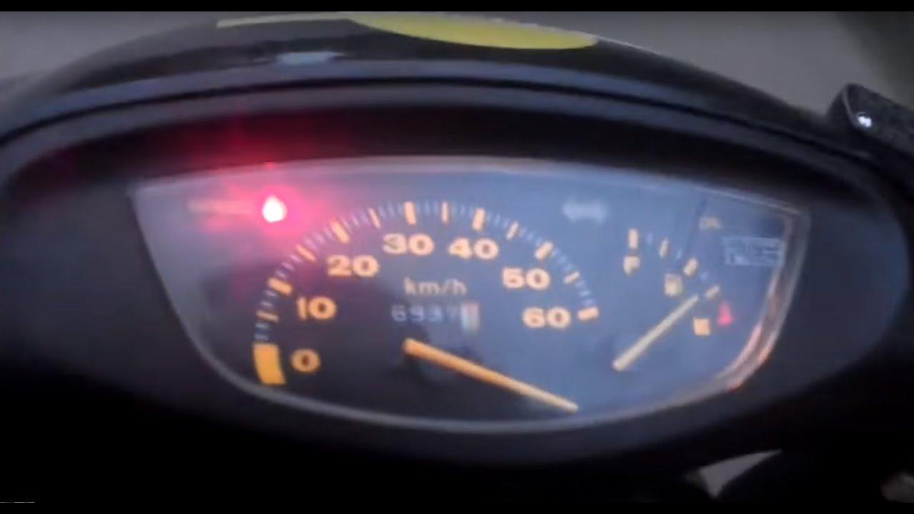 Как увеличить максимальную скорость скутера Honda Dio