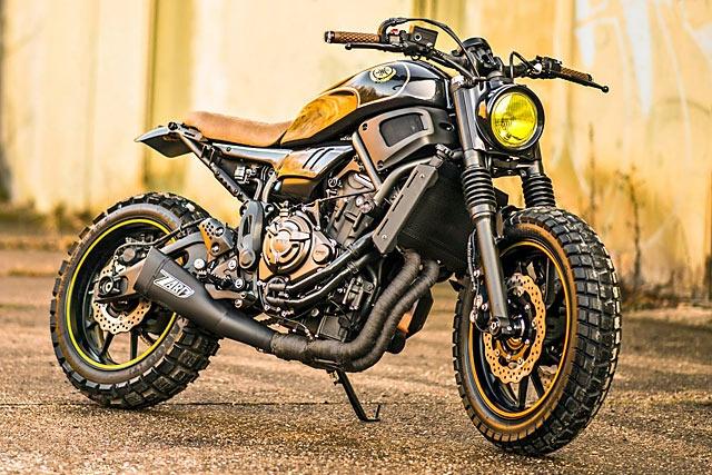 «Dirty Smoke» (Грязный Дым) Yamaha XSR700 от мастерской Motomax Metz