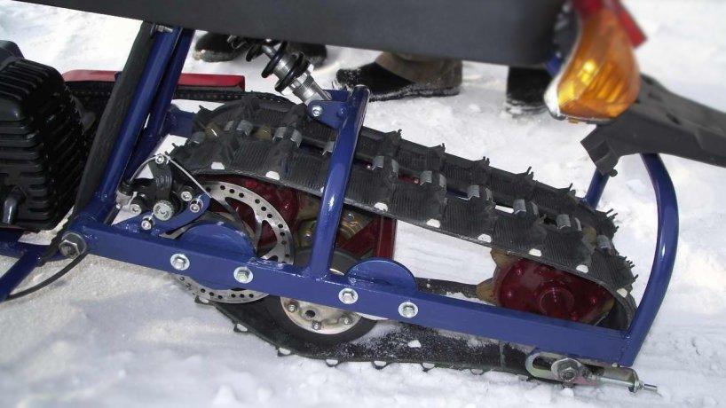 Как сделать самодельный снегоход из бензопилы и мотоблока
