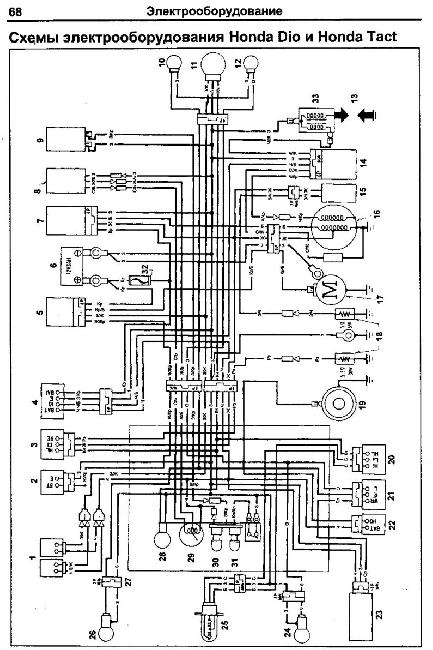 Honda Lead 100 JF 06 — руководство по ремонту электрооборудования