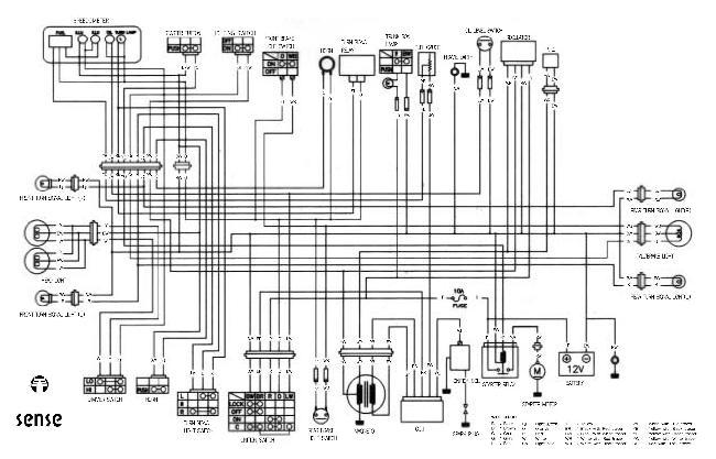 Схема электрооборудования скутера Piaggio NRG MC3 Purejet