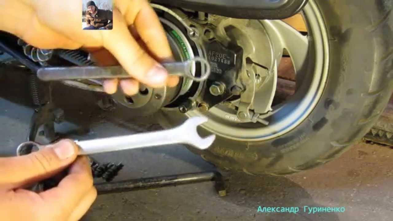 Замена подшипников сцепления на скутере