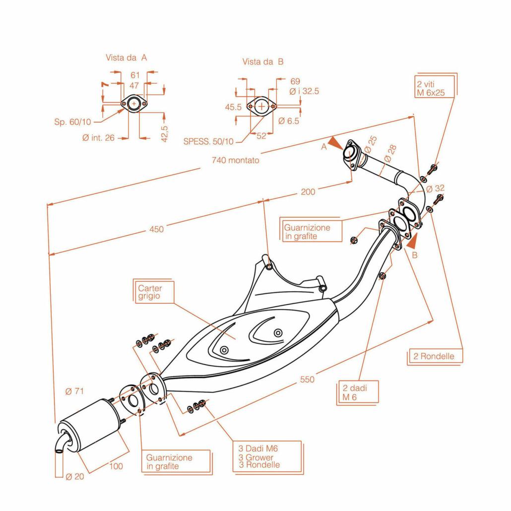 Схема электрооборудования скутера Piaggio NRG MC2