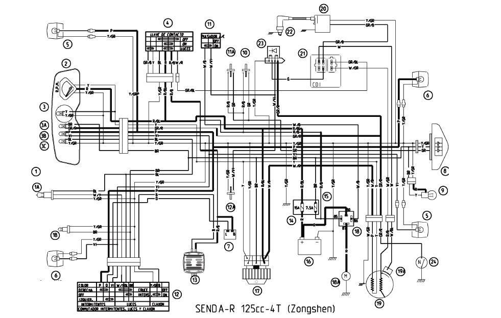 Электросхема скутера Derbi predator